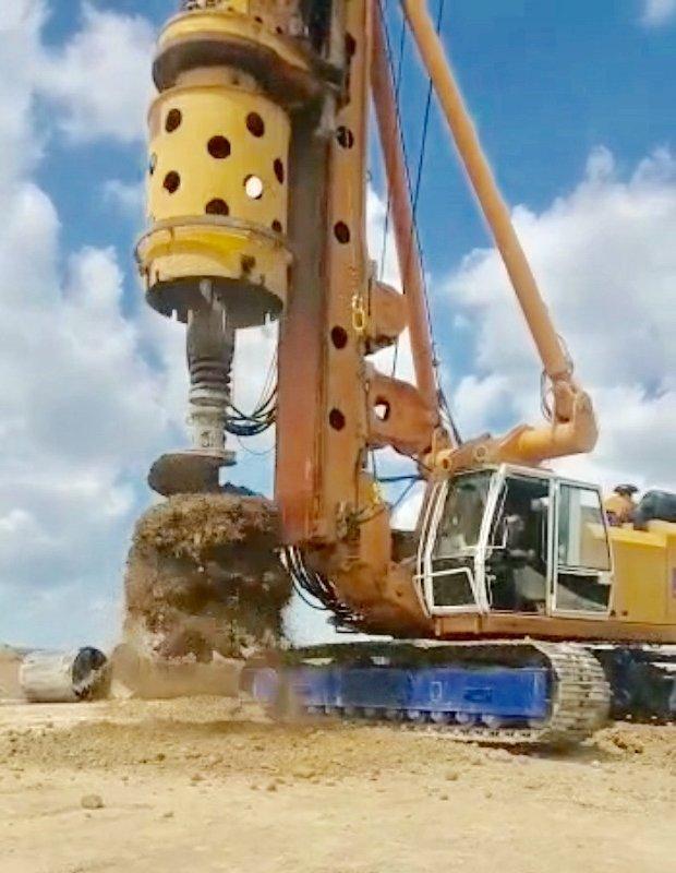 Выполнение комплекса работ по устройству буронабивных свай в Шымкенте